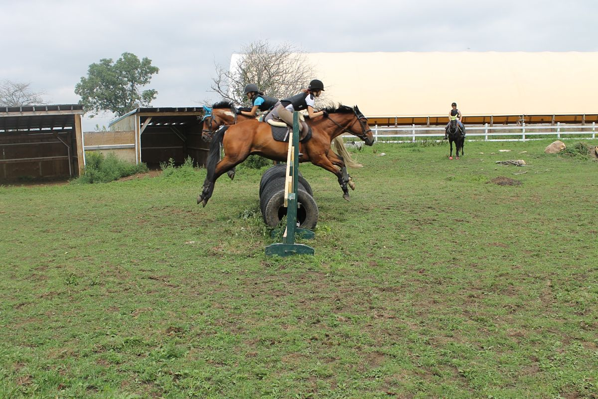 Jumping during Camp at Preston Rosedale Farm
