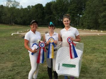 Women and prizes during Preston Rosedale Show